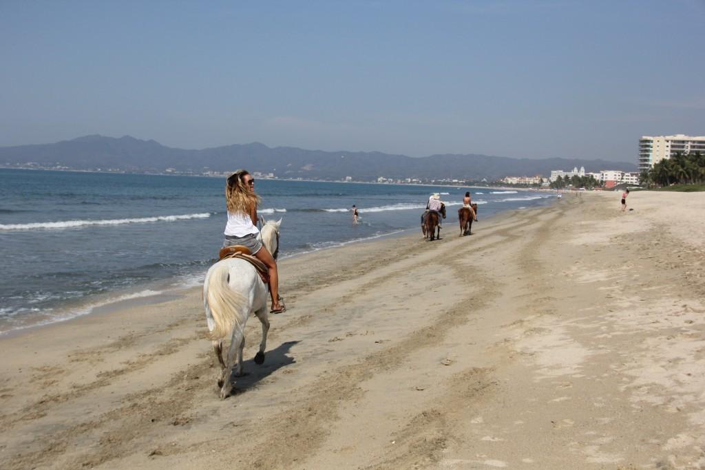 running away on horse